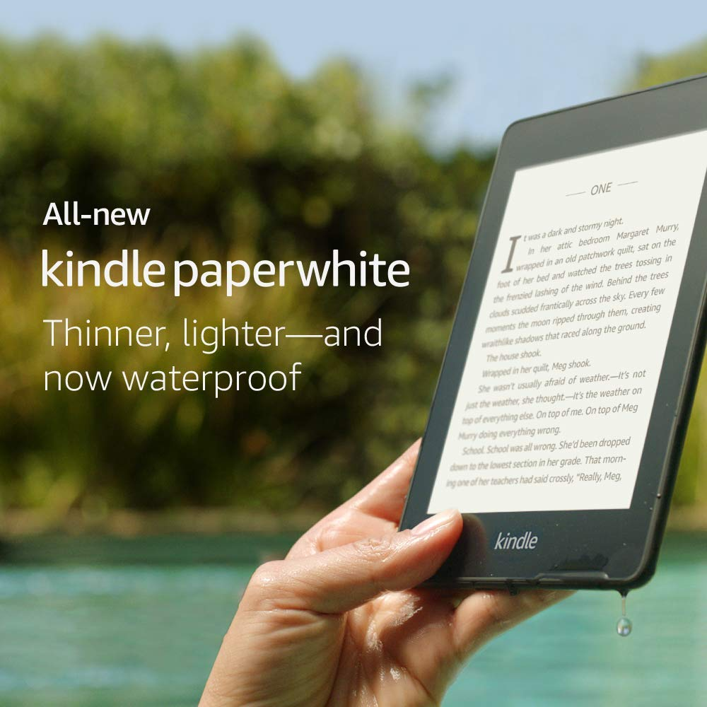 All-new Kindle Paperwhite – Now Waterproof with 2x the Storage 8GB