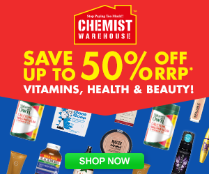 Chemist Warehouse AU: Save up to 50% off! Vitamins, Health and Beauty!