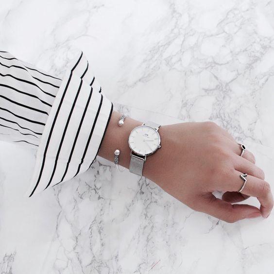 Daniel Wellington Petite Classic Watch Silver