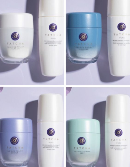Tatcha Kyoto Cleanse Duo of Camellia Cleansing Oil and The Rice Polish