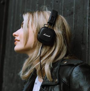 Marshall Major III Foldable Headphones - Black