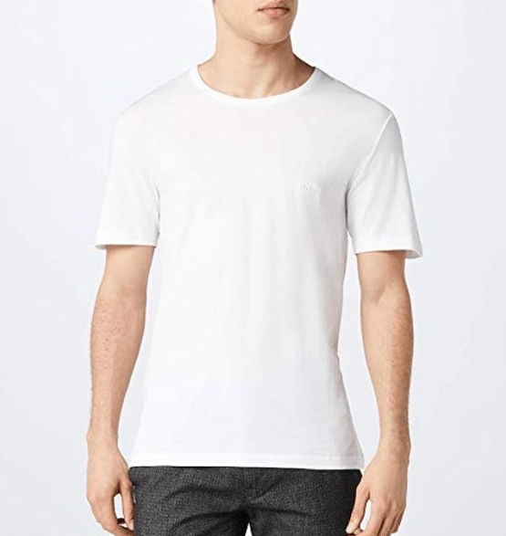 Hugo Boss BOSS Men's T-Shirt Rn 3p Us Co 10145963 01, White, 3 Packs