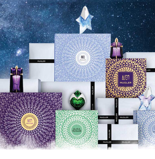 MUGLER: Choose FREE 5-Piece Holiday Angel with any $89+ purchase