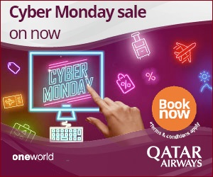 Qatar Airways - Cyber Monday Sale: Amazing fares to South Africa, Europe and the Middle East from $999* return