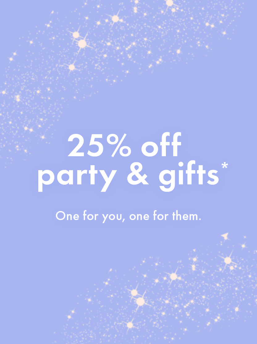 THE ICONIC: 25% OFF PARTY AND GIFTS!